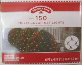NEW Strand 150 Count Net Lights Multi Color Bulbs with Green Wire 6' x 4' - $16.34
