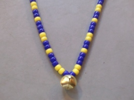 MEMPHIS BELLE HORSE RHYTHM BEADS ~ Navy, Yellow ~ Size 54 Inches - $17.00