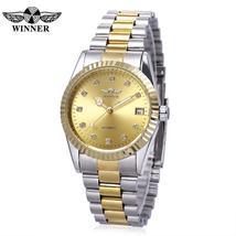 Winner F1205143 Male Auto Mechanical Watch Luminous Rhinestone Dial Date... - $29.25