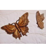 Butterflies Gold Universal Statuary 1972===These Are 47 Years Old=======... - $19.99