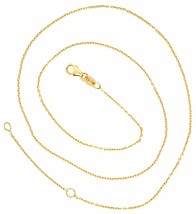 18K YELLOW GOLD CHAIN 1.0 MM ROLO ROUND CIRCLE LINK, 19.7 INCHES, MADE IN ITALY  image 2