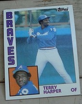 Terry Harper, Braves,  1984  #624 Topps Baseball Card,  GOOD CONDITION - $2.96