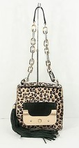 Diane Von Furstenberg Harper Bon Bon Leopard Pony Hair Leather Bag NWT $695 - $192.56