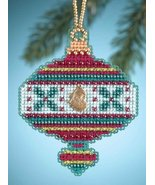 Holly Holiday Christmas Jewels 2014 charmed ornament beaded kit Mill Hill - $6.30