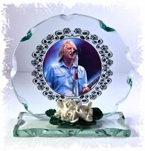Rick Parfit Cut Glass Round Plaque Memories Limited Tribute Edition #1 - $32.07