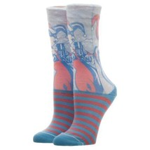 Harley Quinn Neon Faded Juniors Crew Socks Blue - $10.98