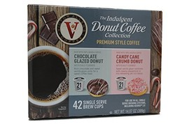Victor Allens Donut Coffee Chocolate Glazed & Candy Cane Crumb Variety P... - $21.75