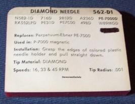 RECORD STYLUS NEEDLE for Perpetuum-Ebner PE-7000 P-7000 PE-5000 562-D1 image 2