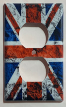UK United Kingdom Flag Light Switch Power Outlet wall Cover Plate Home Decor image 2