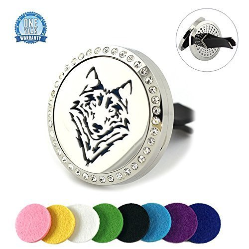 Crystal Car Aromatherapy Diffuser Vent Clip Stainless Steel Essential Oil Locket for sale  USA