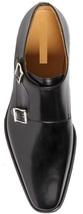 Handstitch men black monk shoes, Men black formal shoes, Men black dress shoes - $169.99