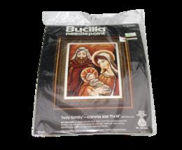 """Bucilla Needlepoint Kit Craft Holy Family 11""""x14"""" USA #60605 Sealed - $28.70"""