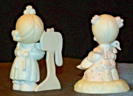 1980 and 1990 Precious Figurines Moments 2 Pieces AA-191821  Vintage Collectible image 3