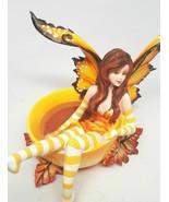 Amy Brown Autumn Comfort Cup Fairy Faery Fantasy Art Figurine Statue - $39.57