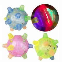 Colorful Flash Music Ball Toy Jumping Activation Ball-Cat Dog Chew Elect... - $12.49