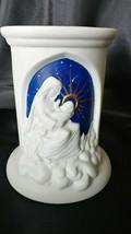 Teleflora Ceramic Cylinder Vase with Madonna and Child - $9.50