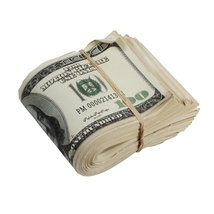 PROP MOVIE MONEY - 2000 Series $100s Aged $10,000 Blank Filler Fat Fold - $10.99