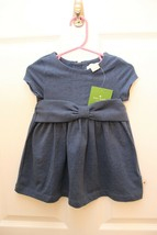 Kate Spade Girls Size 18 M  KAMMY Dress Blue Stretch Cotton Bow Waist NWT - $34.62
