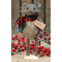 farmhouse primitive country rustic fabric Christmas Lil' Buddies MOUSE 8... - $36.99