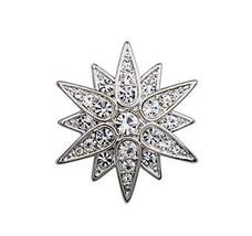 Men Women Fashion Brooches Pins Business Suit Decoration, Hexagram
