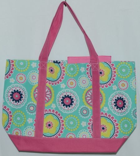 WB M730PIPER Piper Polyester Tote Bag Colors Pink Navy Mint Green Yellow White