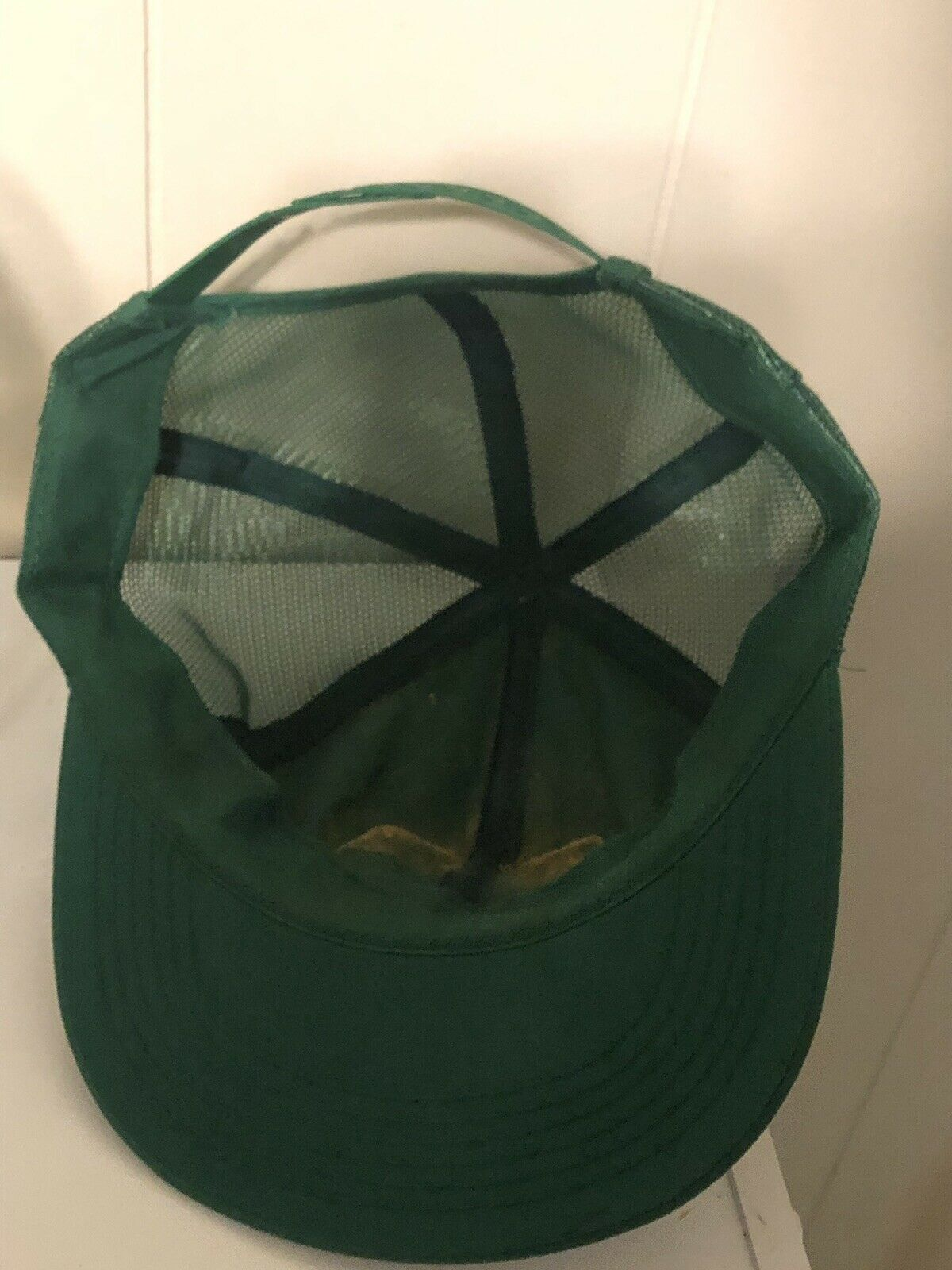 K Products John Deere Patch Hat Snapback Vintage Made In USA Green Trucker Cap