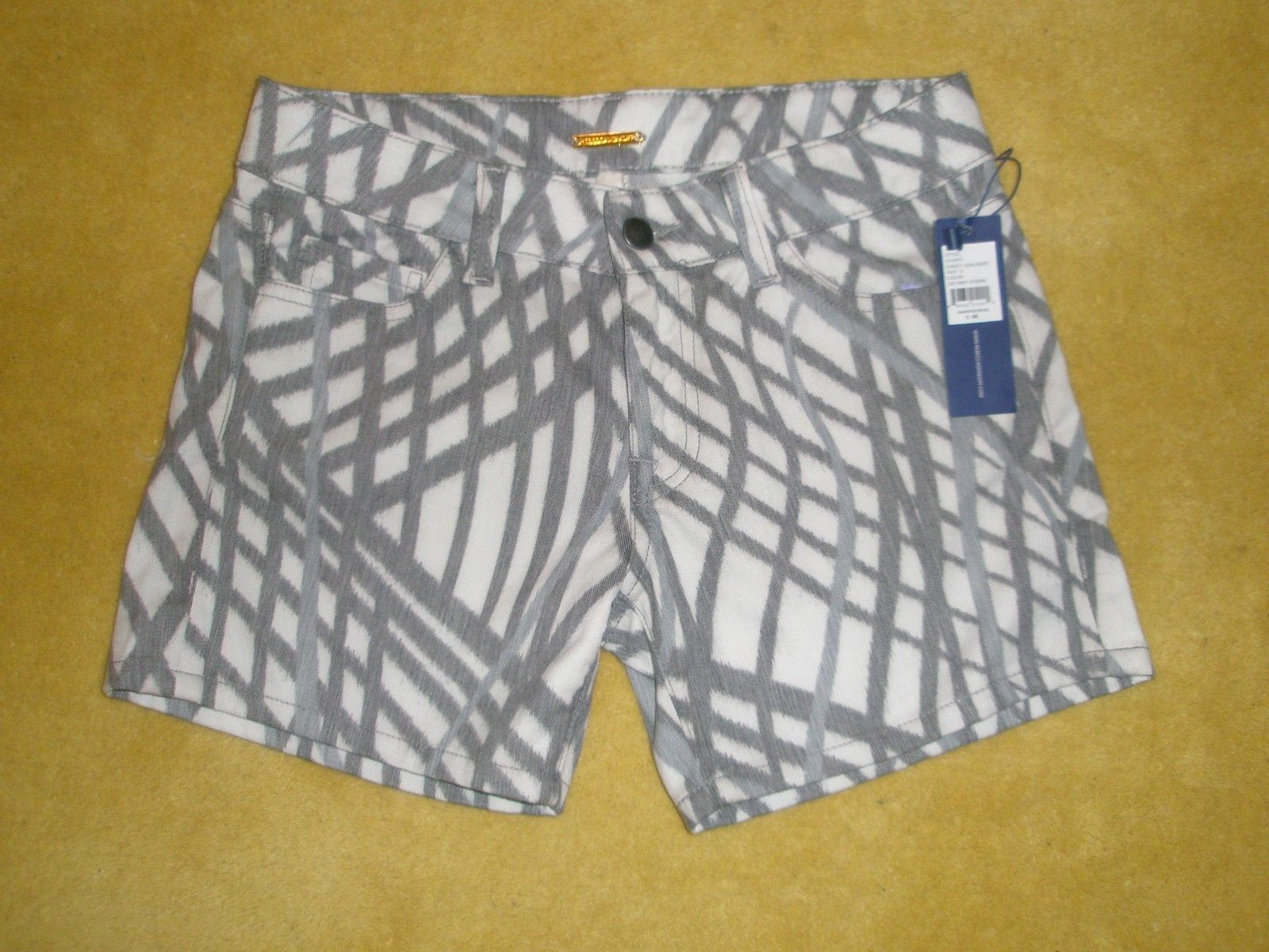 Primary image for NWT Rebecca Minkoff Christty Jean Grey Stripe Shorts Size 0 MSRP:$168