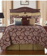 New Waterford Linens Harwich Jacobean Floral Reversible Queen Comforter ... - $217.79