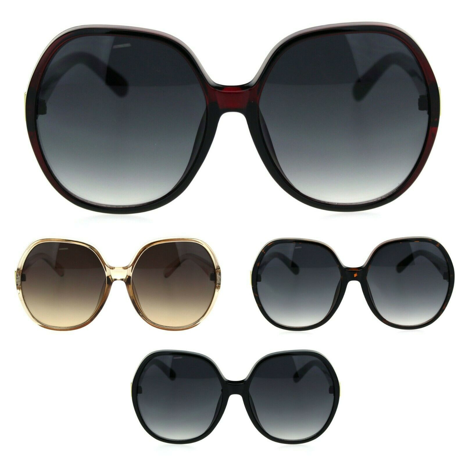 Womens 90s Oversize Large Round Butterfly Chic Sunglasses