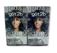 Schwarzkopf Got2b Metallic M73 Smokey Steel Hair Color (2) Boxes - $28.99