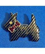 HEIDI DAUS Black Enamel SCOTTIE Dog Pin Brooch - 2 inches - FREE SHIPPING - $60.00