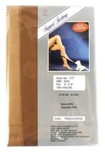 NEW KORUS WOMEN'S CONTROL TOP STOCKINGS PANTYHOSE ONE SIZE FRENCH COFFEE P-777 image 2