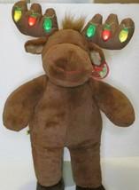 "BUILD A BEAR CHRISTMAS HAL MOOSE 16"" LIGHT UP ANTLERS STUFFED PLUSH DOLL... - $12.99"