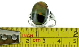 Ladies Size 6 Sterling Silver Natural Tigers Eye Cabochon Fashion Ring No. 2107 image 7