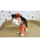 Amigurumi horse toy - crochet toy animal - baby shower gift - nursery de... - $495,09 MXN