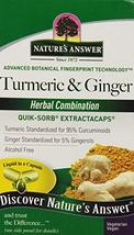 Nature's Answer Extractacaps Nutritional Supplement, Turmeric and Ginger... - $32.49