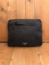 Authentic PRADA Black Tessuto Document Portfolio Notebook Case Unisex Mens - $475.00