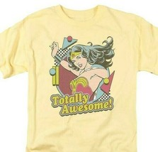 Wonder Woman Totally Awesome T-shirt retro DC comic Superman superhero DCO671 image 1