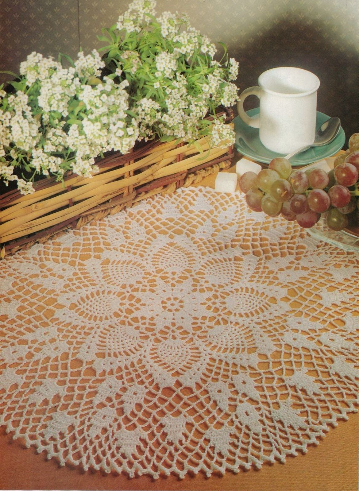 Primary image for PINEAPPLE ORANGE BLOSSOM YELLOW NARCISSUS PRIVATE OCCASION Crochet DOILY Pattern