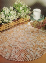 PINEAPPLE ORANGE BLOSSOM YELLOW NARCISSUS PRIVATE OCCASION Crochet DOILY... - $5.50
