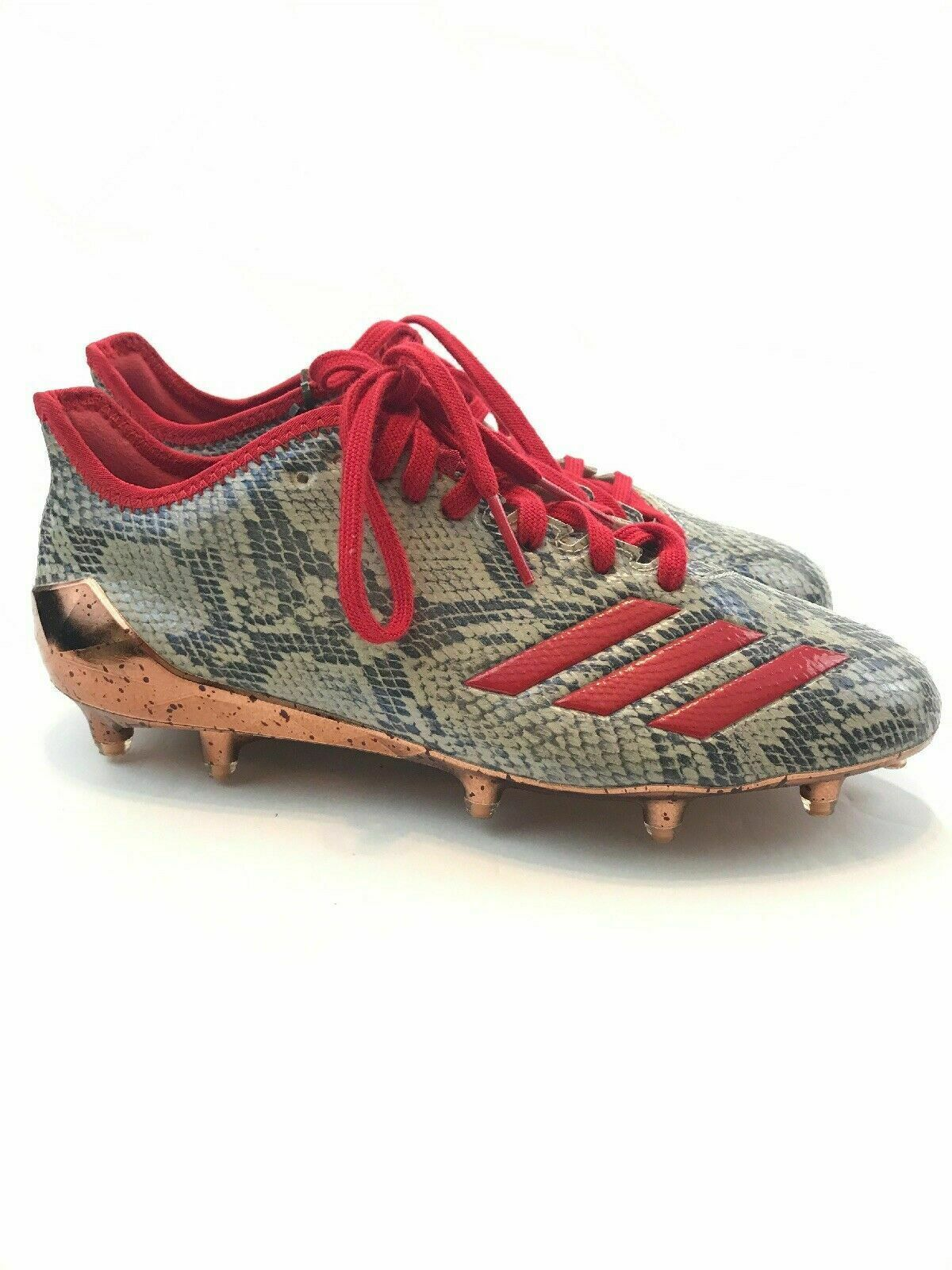 online store 7bb04 3bc6b Adidas Adizero 5 Star 6.0 Football Cleats Texas Snakeskin Red BY3153 size  6.5