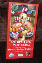 """Sunsout """"Fourth On The Farm"""" Art By Tom Wood 300 Piece Jigsaw Puzzle - $9.90"""