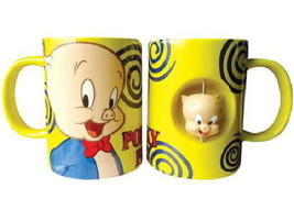 Looney Tunes Porky Pig Figure Ceramic Spinner Coffee Mug, NEW UNUSED - $9.74