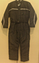 NEW - MENS SNOWMOBILE SUIT - ATHLETIC WORKS - LARGE - BLACK WITH SNAP OF... - $89.99
