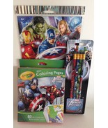 Marvel Avengers Assemble Temporary Tattoos, Coloring Pages/Markers, Penc... - $13.77