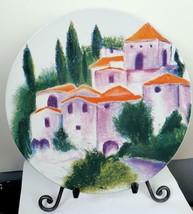 Vintage Provance Coup Plate Hillside Houses Certified International 10.7... - $15.84