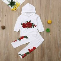 Fashion Toddler Baby Girl Floral Hooded Top Long Pants Outfits Clothes Tracksuit image 8