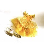 Authentic Belle Costume Street from Disney Size 6/6X with Extras - $71.43