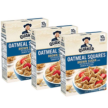 Quaker Oatmeal Squares Breakfast Cereal, Brown Sugar, 14.5oz Boxes 3 Pack - $12.37