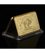 WR Art 1 Troy Oz 100 Mills .999 Gold US Buffalo Clad Bar Collectors Gift... - $6.08